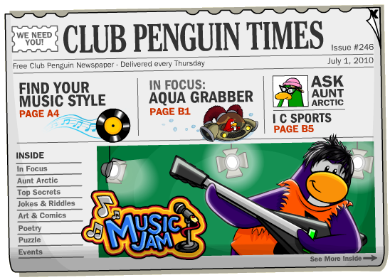 Club Penguin Times Issue 246 Cheats For Club Penguin